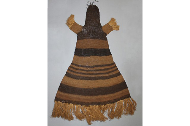 Ceremonial costume from Zambia made of netted plant fiber
