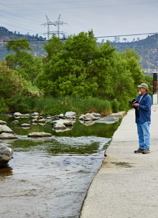 kimball garrett walking down the LA river
