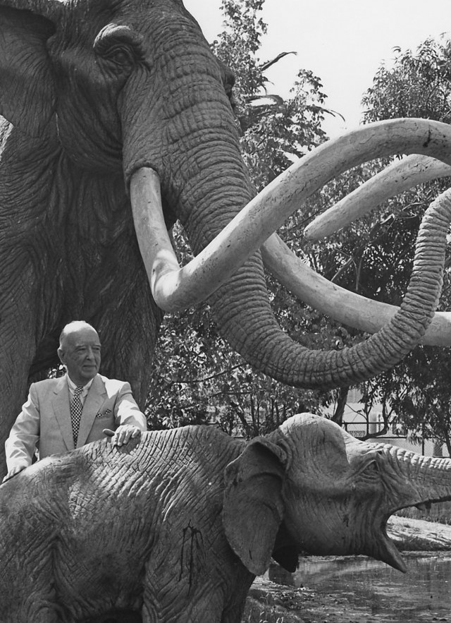 George Page with mammoths tar pits 1985
