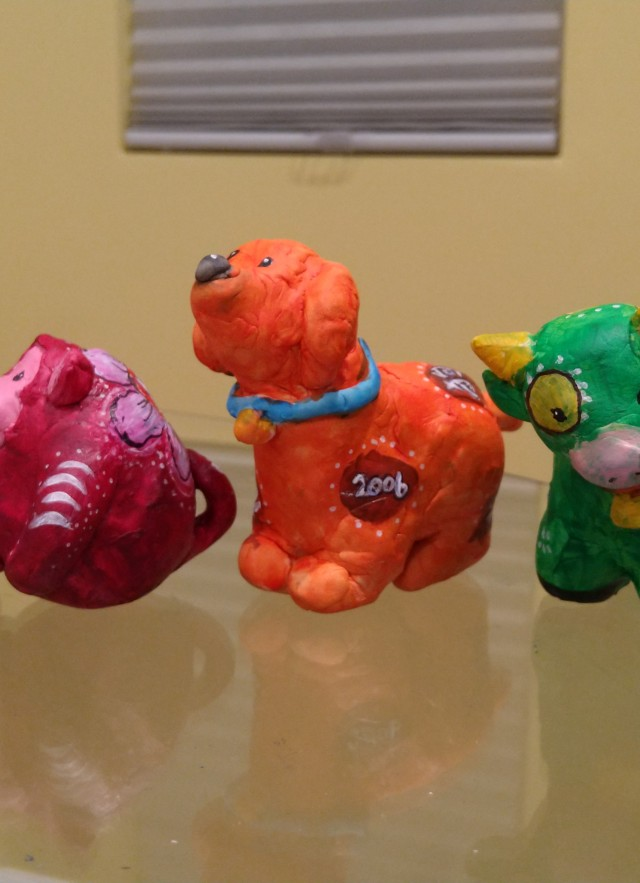 Four figurines from the Lunar New Year