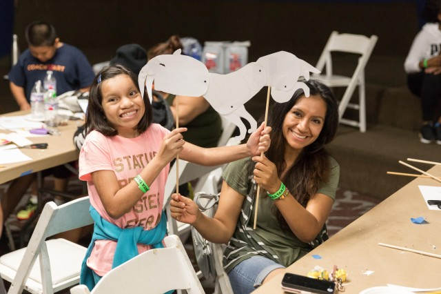 la brea tar pits shadow puppet workshop kids art craft program