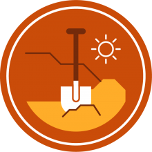 Icon of a shovel to represent digs