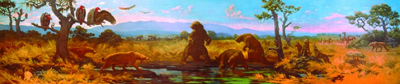 charles knight mural of ice age animals