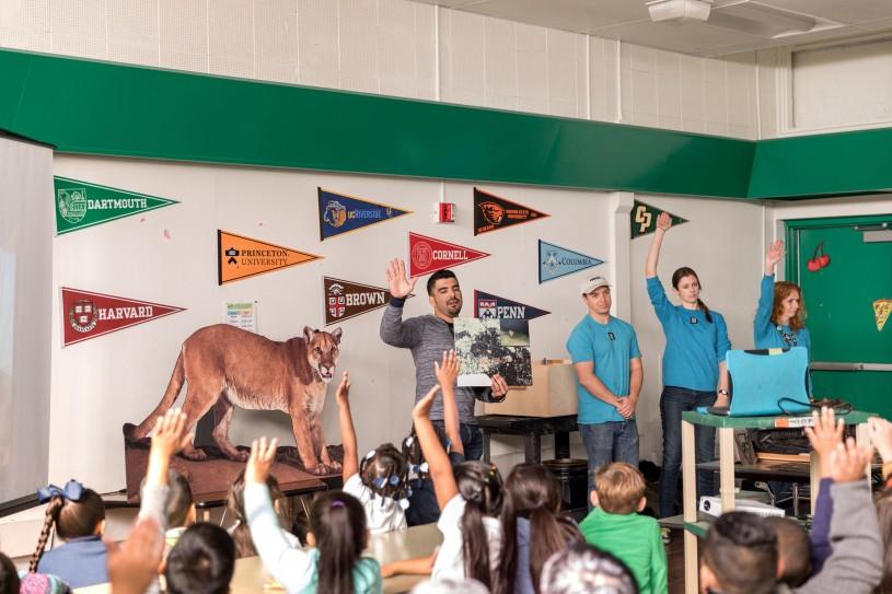 NHMLAC staff at local Lindbergh Elementary School in Lynwood