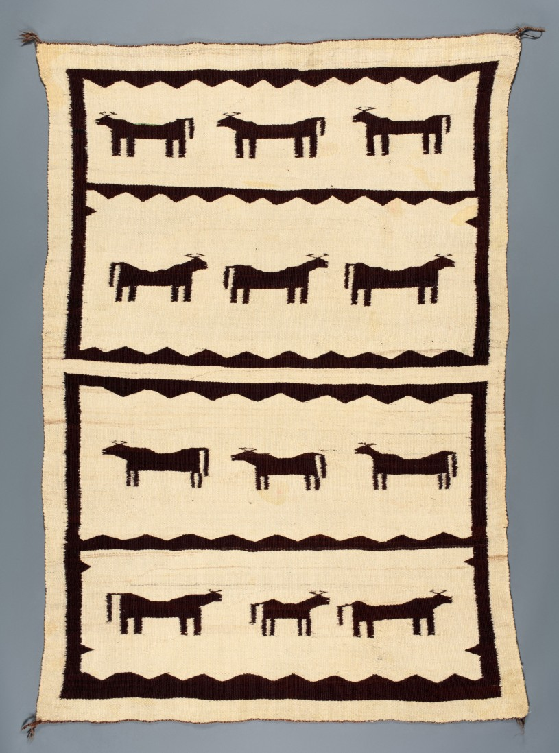Navajo Blanket with Ox Pattern