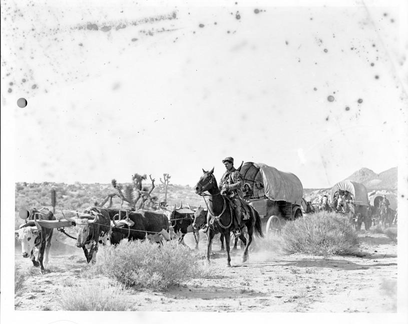 Wagon Tracks, Still image from William S. Hart film